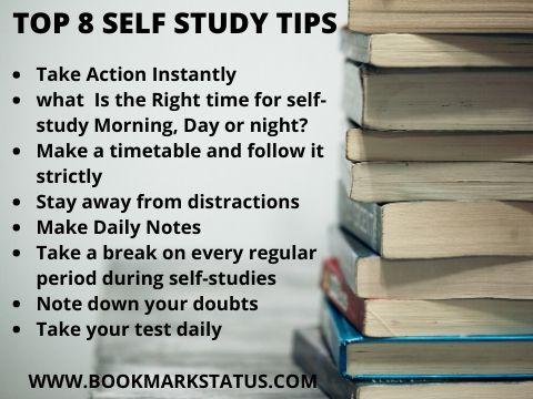 -self study tips | BOOKMARK STATUS