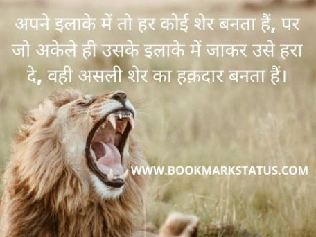 -royal lion status in hindi | BOOKAMRK STATUS