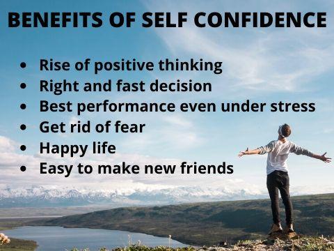 Benefits of self confidence