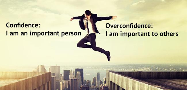 Difference between confidence and over confidence