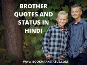 50+ Brother Quotes and Status in Hindi With Images – भाई पर अनमोल वचन एवं सुविचार