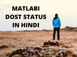 65 Very Unique Matlabi Dost Quotes and Status in Hindi