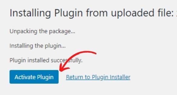 Downloaded plugin को upload कर के install करना