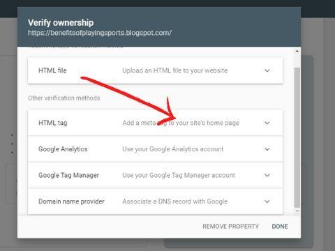 google search console setup step no 3 in hindi