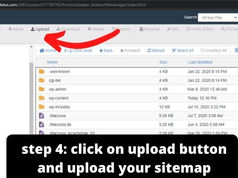 sitemap cpanel me kaise upload kare