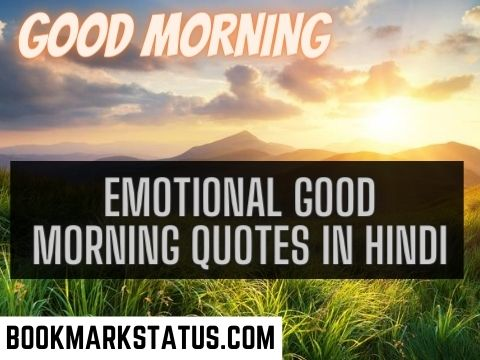 30+ Emotional Good Morning Quotes in Hindi