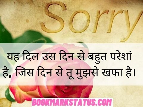 sorry lines for gf in hindi