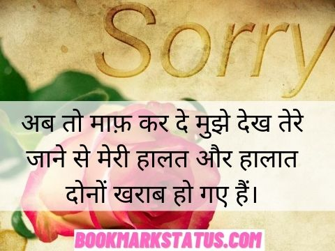 emotional sorry quotes in hindi