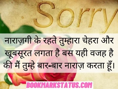 sorry my love quotes in hindi