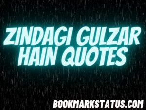 Best 50+ Zindagi gulzar hai Quotes in Hindi