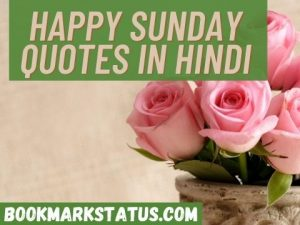 Best Sunday Quotes in Hindi