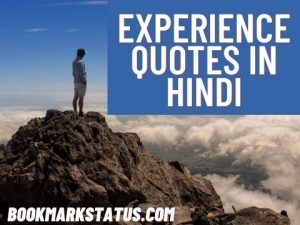 Experience Quotes in Hindi – (अनुभव पर सुविचार)