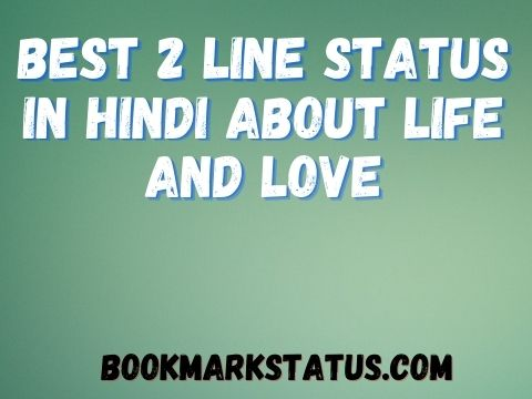 2 Line Status in Hindi About Life and Love