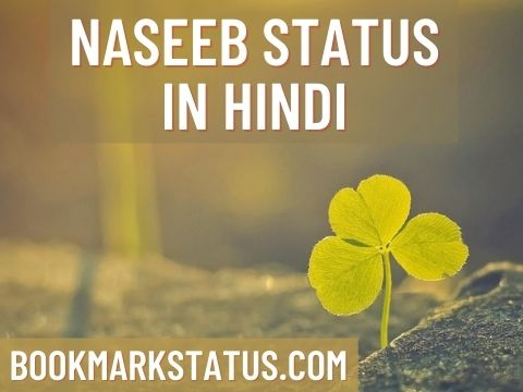 Naseeb Status in Hindi