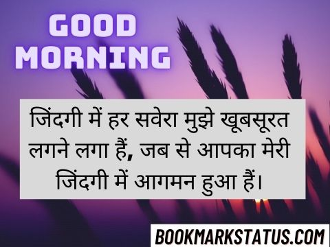 Good Morning Love Sms in Hindi 20