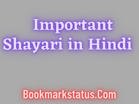You are currently viewing 30+ Best Important Shayari in Hindi