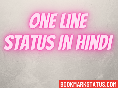 80 Best One Line Status in Hindi