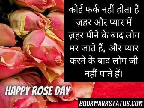 happy rose day love status in hindi