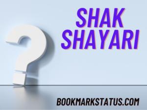 Read more about the article 29+ Shak Shayari in Hindi
