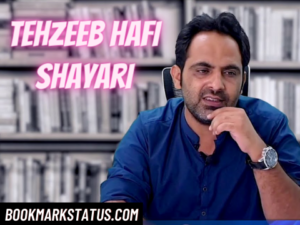 35 Best tehzeeb hafi shayari in hindi