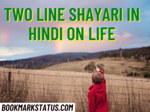 31 Best Two Line Shayari in Hindi on life